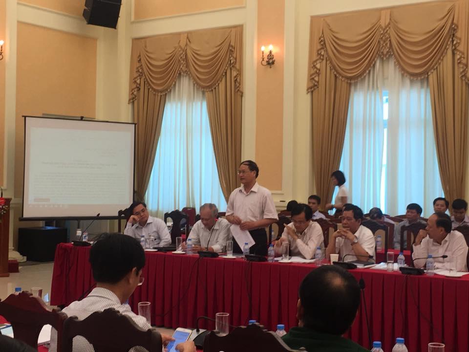 Ts Dương Văn Cận phát biểu tại hội thảo: hoàn thiện hệ thống định mức
