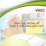 Danh mục các Văn bản về Quản lý chất lượng công trình xây dựng