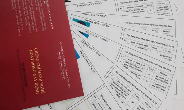 Danh sách các cá nhân được Hiệp hội các Nhà thầu Xây dựng Việt Nam cấp chứng chỉ hành nghề đợt 2